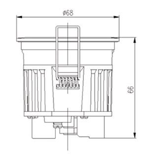 tcl筒灯结构图